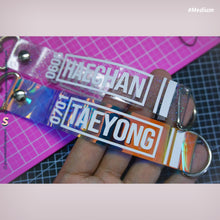 Load image into Gallery viewer, CREATE YOUR OWN Hologram Name Tag Lightstick Keychain Keyring