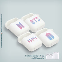 Load image into Gallery viewer, BTS Bangtan Boys x ARMY Logo AirPods 1 AirPods 2 AirPods Pro Case