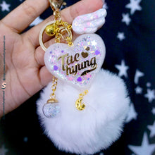 Load image into Gallery viewer, CREATE YOUR OWN Pom Pom Resin Lightstick Keychain Keyring