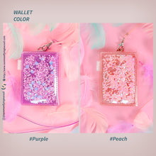 Load image into Gallery viewer, (Free Photocard 3ea+Photo Locket Keyring 1ea) Shake Glitter Kpop Jelly Wallet
