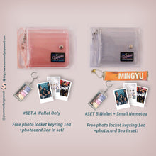 Load image into Gallery viewer, (Free Photocard 3ea+Photo Locket Keyring 1ea) Rainbow Kpop Jelly Wallet