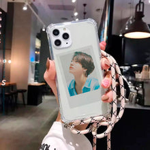 Load image into Gallery viewer, (FREE Photocard 4ea) Clear Crossbody Lanyard Photocard Phonecase for iPhone and Androids