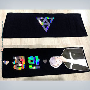 CREATE YOUR OWN 60x20cm Custom Kpop Magical Reflective Hologram Slogan Banner With Photo Version