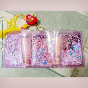 (Free Photocard 3ea+Photo Locket Keyring 1ea) Shake Glitter Kpop Jelly Wallet