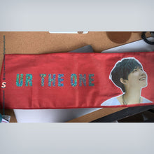 Load image into Gallery viewer, CREATE YOUR OWN 60x20cm Custom Kpop Magical Reflective Hologram Slogan Banner With Photo Version