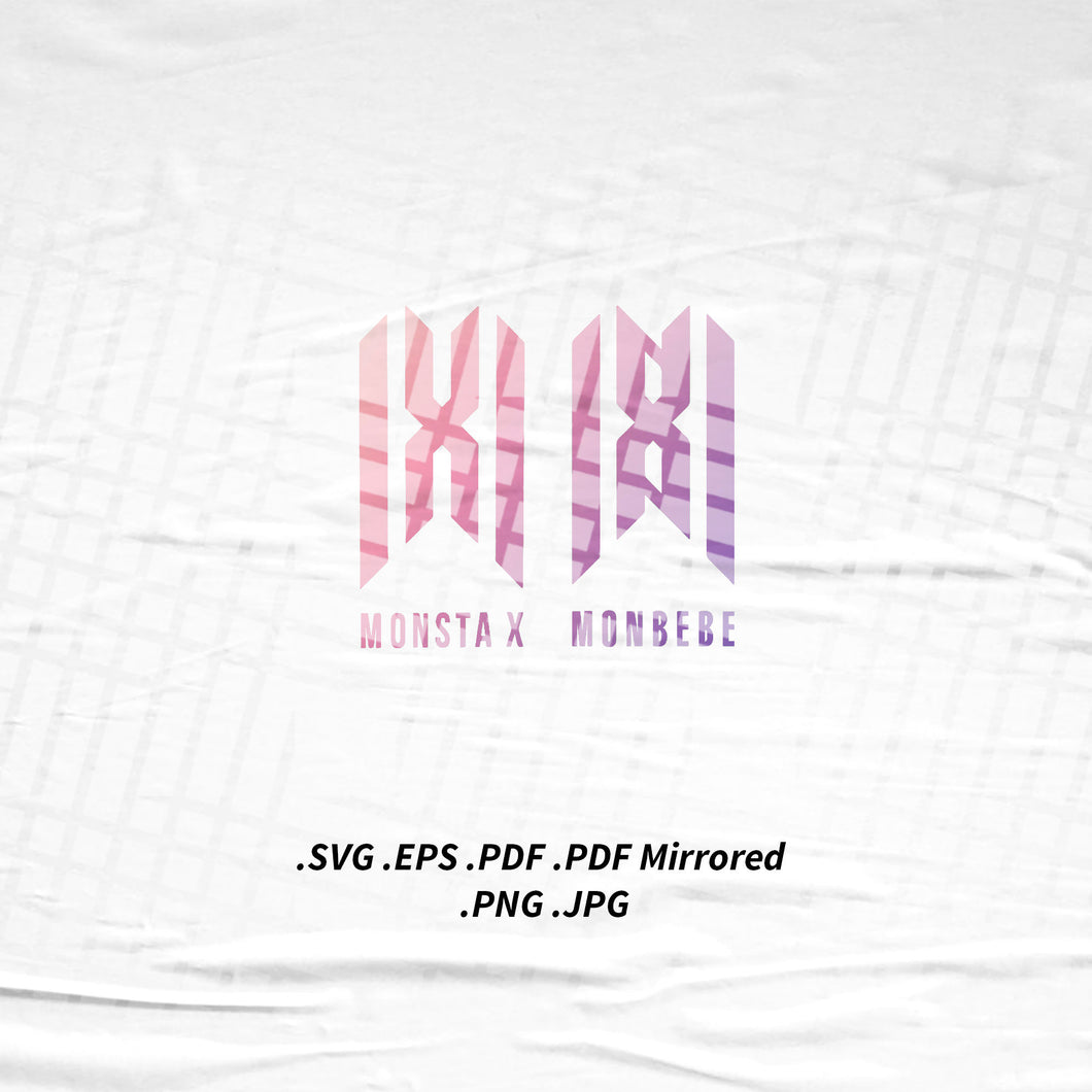 (INSTANT DOWNLOAD) Monsta X New Logo SVG Png Eps Pdf Vector Cutting File for Cricut Cameo Silhouette
