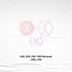(INSTANT DOWNLOAD) EXO Logo SVG Png Eps Pdf Vector Cutting File for Cricut Cameo Silhouette