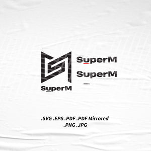 (INSTANT DOWNLOAD) SuperM Logo SVG Png Eps Pdf Vector Cutting File for Cricut Cameo Silhouette