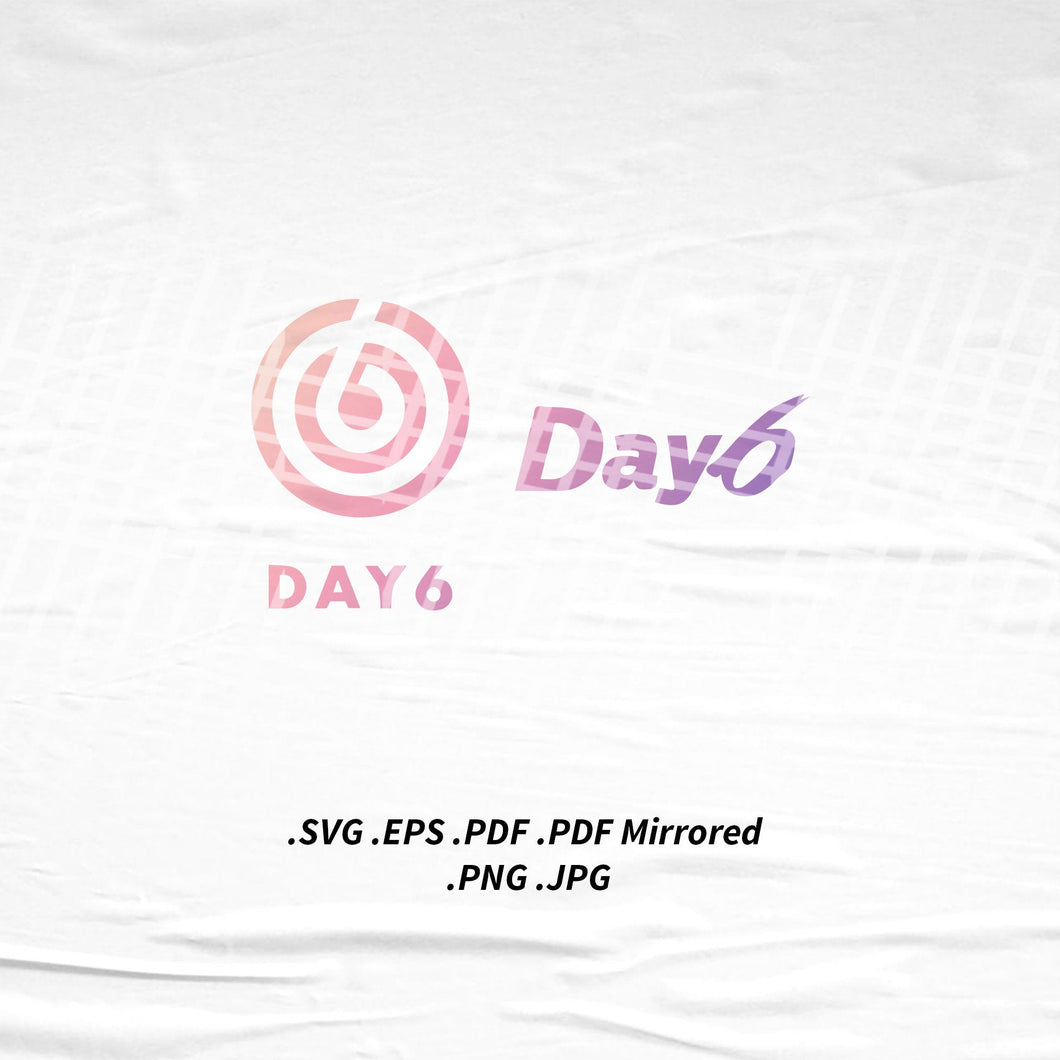 (INSTANT DOWNLOAD) Day6 Logo SVG Png Eps Pdf Vector Cutting File for Cricut Cameo Silhouette