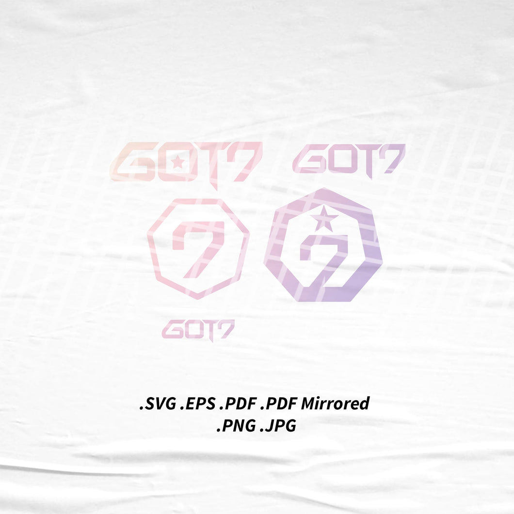(INSTANT DOWNLOAD) GOT7 Logo SVG Png Eps Pdf Vector Cutting File for Cricut Cameo Silhouette