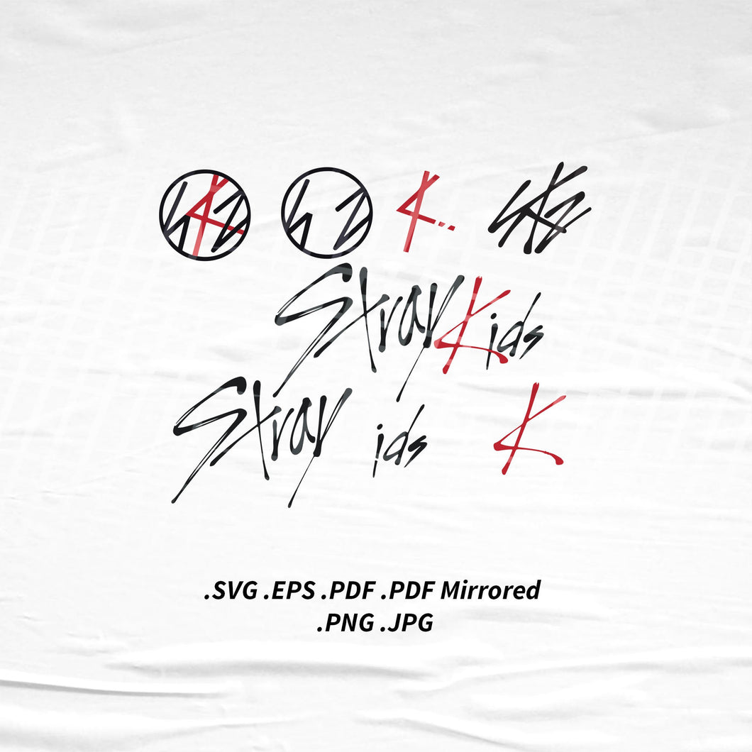 (INSTANT DOWNLOAD) Stray Kids Logo SVG Png Eps Pdf Vector Cutting File for Cricut Cameo Silhouette