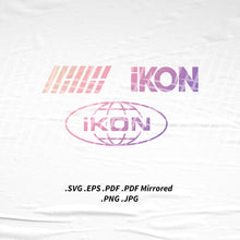 Load image into Gallery viewer, (INSTANT DOWNLOAD) iKon Logo SVG Png Eps Pdf Vector Cutting File for Cricut Cameo Silhouette