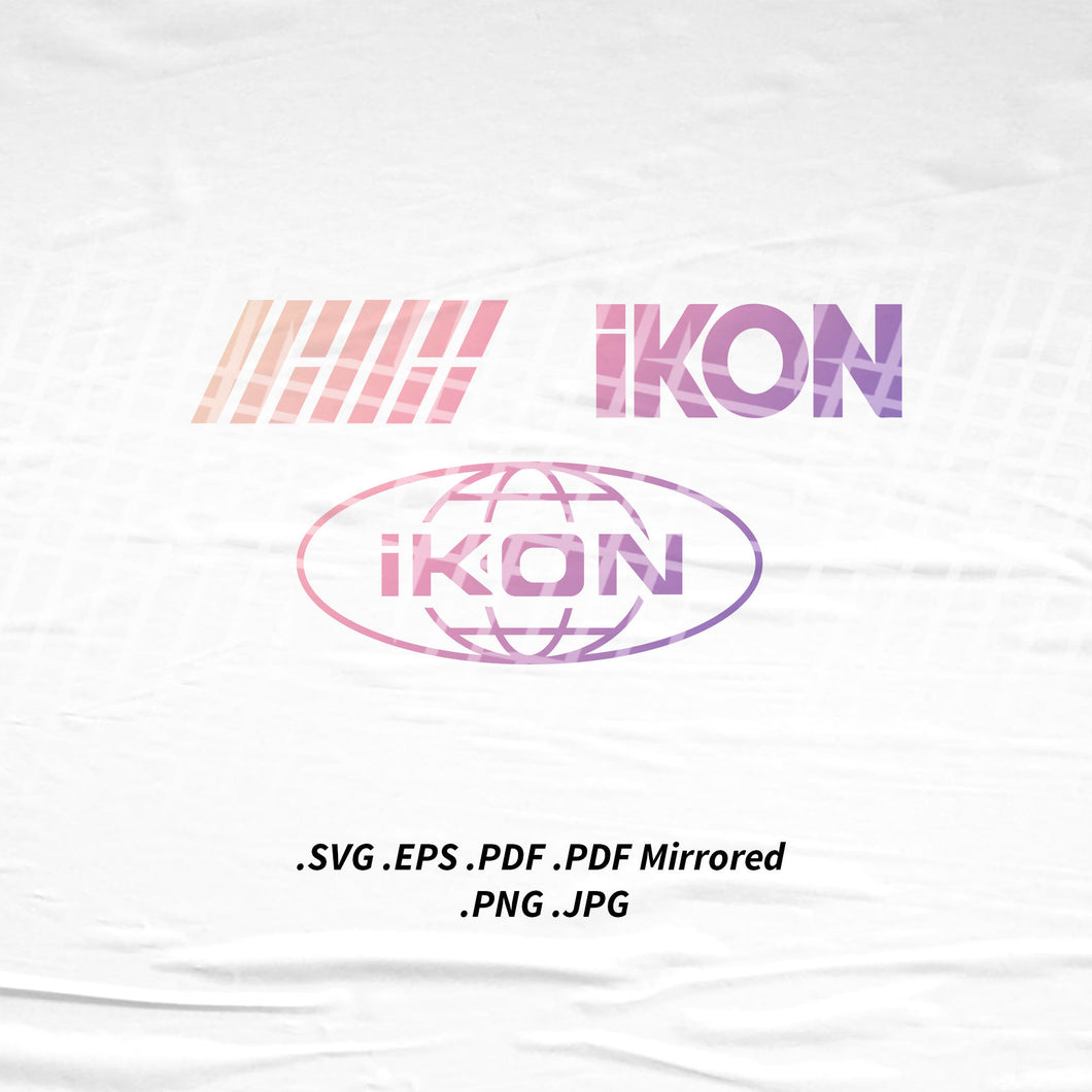 (INSTANT DOWNLOAD) iKon Logo SVG Png Eps Pdf Vector Cutting File for Cricut Cameo Silhouette
