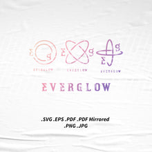 Load image into Gallery viewer, (INSTANT DOWNLOAD) Everglow Logo SVG Png Eps Pdf Vector Cutting File for Cricut Cameo Silhouette