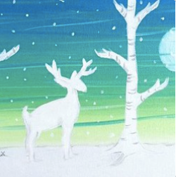 Winter Deer | 7x14