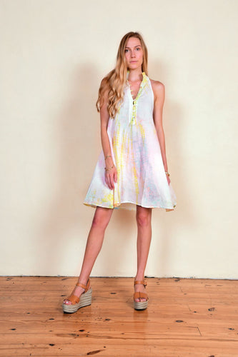 Cotton drip dye endless summer dress