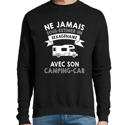 Sweat homme camping car sexagénaire