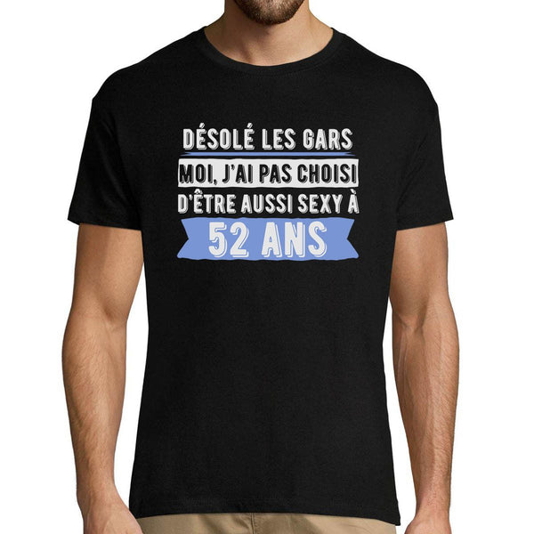 T-shirt Homme 52 ans Sexy - Planetee