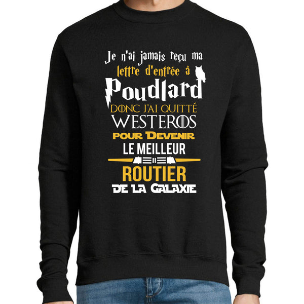 Sweat Routier Harry Potter Star Wars LOTR - Planetee