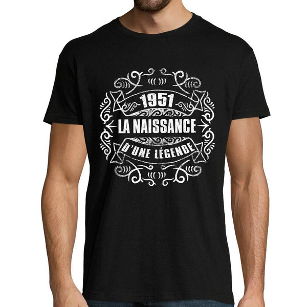 T-shirt homme Anniversaire 1951 - Planetee