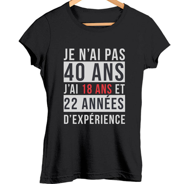 T-shirt Femme 40 ans - Planetee