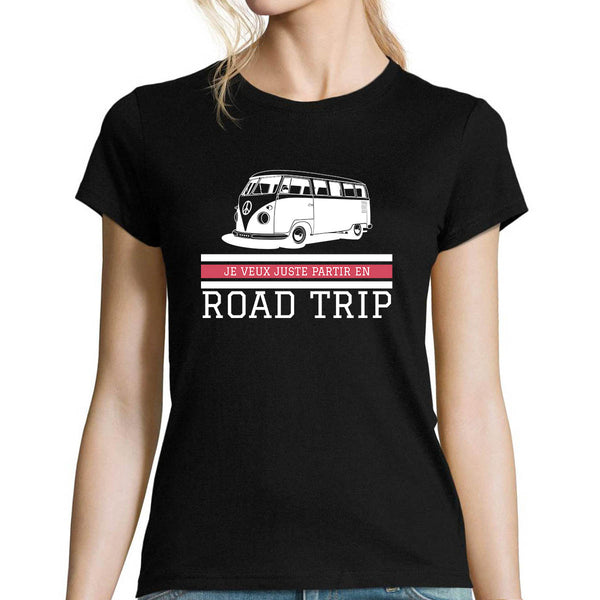 T-shirt femme Road Trip - Planetee
