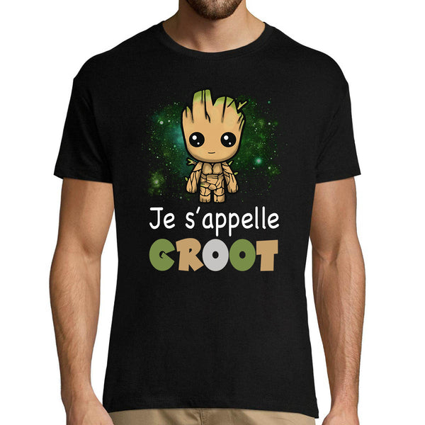 T-shirt homme Je s'appelle Groot - Planetee