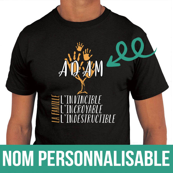 T-shirt Homme Famille Invinsible Personnalisable - Planetee