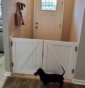 Double Barn Door Painted White - Oak Grove Woodworks