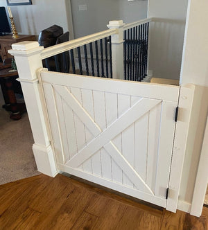 Barn Door Gate Painted White - Oak Grove Woodworks