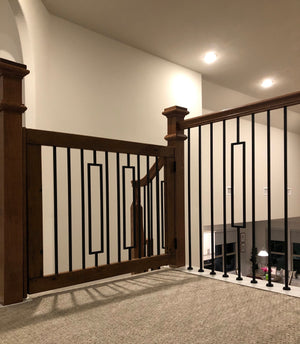 Contemporary Baluster Gate - Oak Grove Woodworks