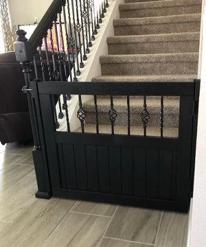 Metal Basket Gate - Oak Grove Woodworks