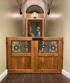 Double Door Circle Gate - Oak Grove Woodworks