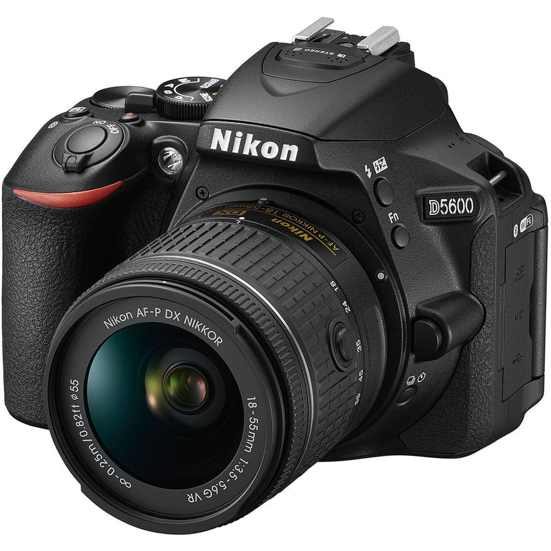 Nikon D5600 DSLR Camera with 18-55mm and 70-300mm Lenses (Intl Model) - 128GB - Case - EF530 ST & 50-500 4.5-6.3 APO DG OS