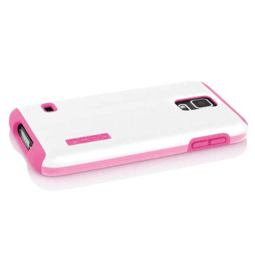 Incipio DualPro Shine Case for Samsung Galaxy S5 - Retail Packaging - White/Pink