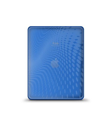 iLuv Flexi-Clear TPU Case with Dot Wave Pattern for iPad - Blue