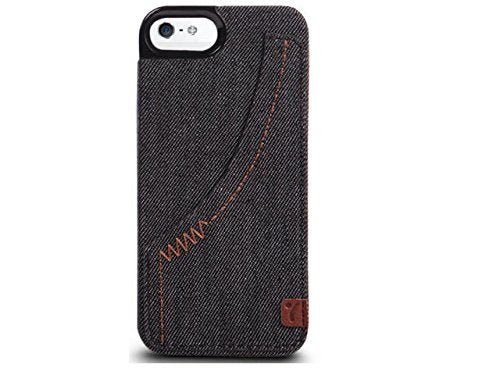 The Joy Factory Denim Premium Denim Hardshell Case with Pocket for iPhone5/5S, CSD111 (Smoke)