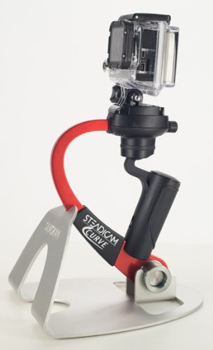 Steadicam CURVE-BK Handheld Video Stabilizer and grip for GoPro Hero Cameras 3, 4 Black & Hero 5 (Red)