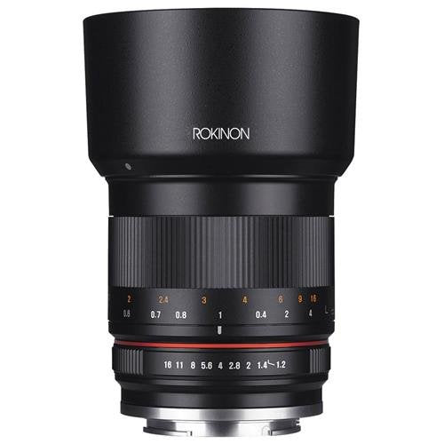 Rokinon RK50M-M 50mm F1.2 AS UMC High Speed Lens for Canon (Black)
