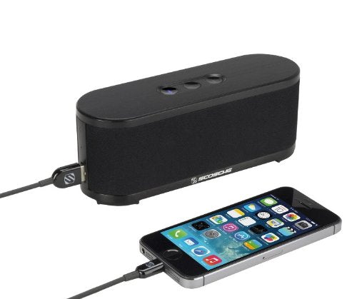 Scosche btspk2 boomSTREAM Bluetooth Media Speaker - Bluetooth Car Kit - Retail Packaging - Black