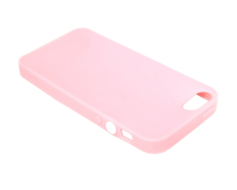 The Joy Factory Jugar Soft Silicone Case with Metal Frame for iPhone5/5S, CSD103 (Soft Pink)