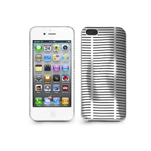 iLuv ICA7T324WHT Topog Mesh softshell Case Protection for Apple iPhone 5 and iPhone 5S - 1 Pack - Retail Packaging - Whi