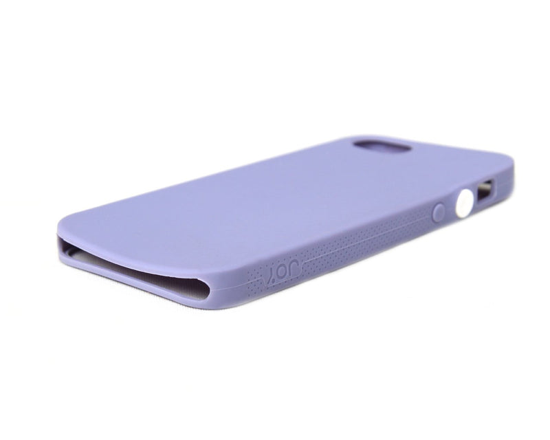 The Joy Factory Jugar Soft Silicone Case with Metal Frame for iPhone5/5S, CSD102 (Purple)