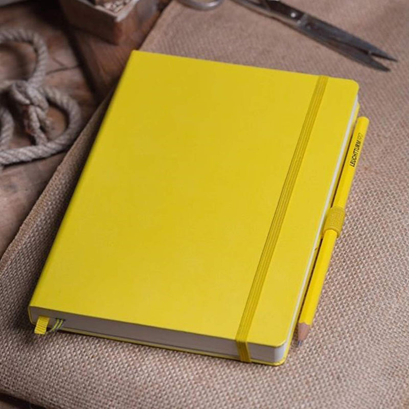 Leuchtturm1917 Medium A5 Dotted Hardcover Notebook (Lemon) - 249 Numbered Pages