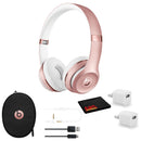 Beats Solo3 Wireless Headphones (Rose Gold) - Kit with USB Adapter Cube
