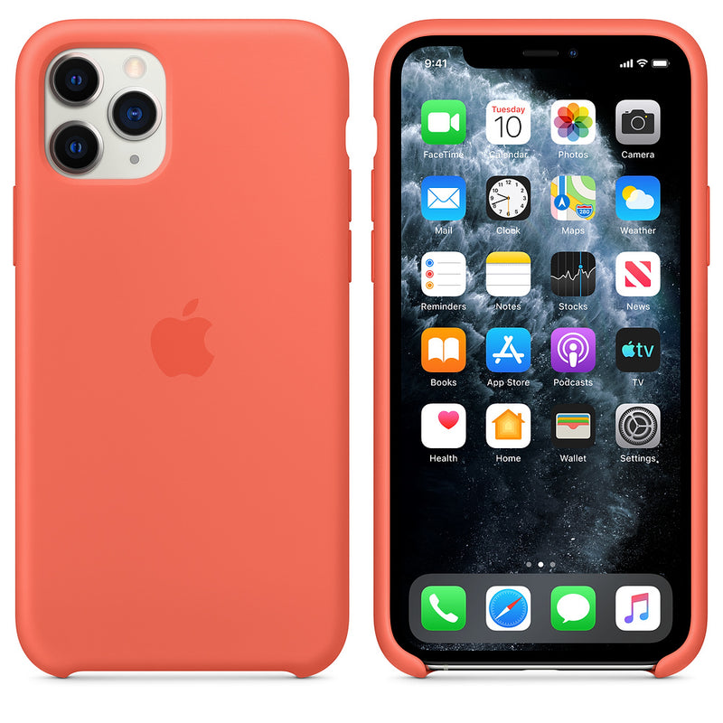 Apple Silicone Case (for iPhone 11 Pro) - Clementine (Orange)