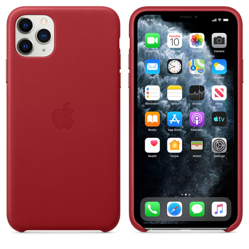 Apple Leather Case (for iPhone 11 Pro Max) - (Product) RED