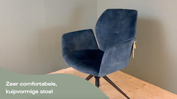 Mobitec Mood #95 M0512 eetkamerstoel velvet grey - Product video