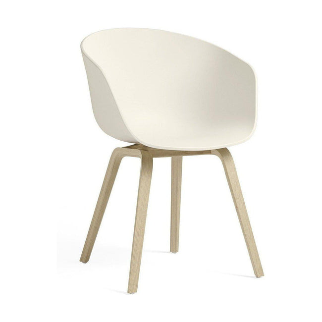 HAY About a Chair AAC 22 eetkamerstoel gezeept cream white - HAY About a Chair AAC 22 eetkamerstoel gezeept cream white