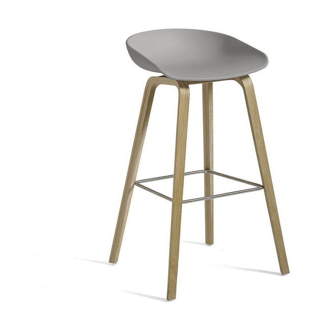 HAY About a Stool AAS 32 Barkruk H85 concrete grey